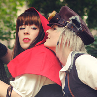 Little red riding hood steampunk cosplay