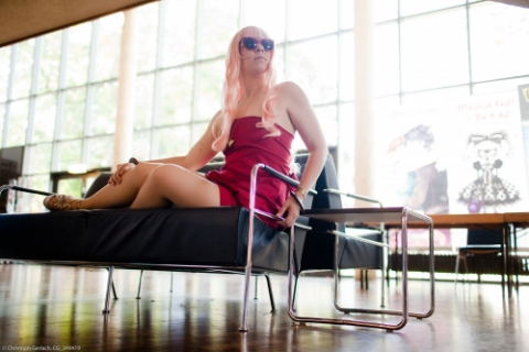 Sheryl Nome red dress cosplay